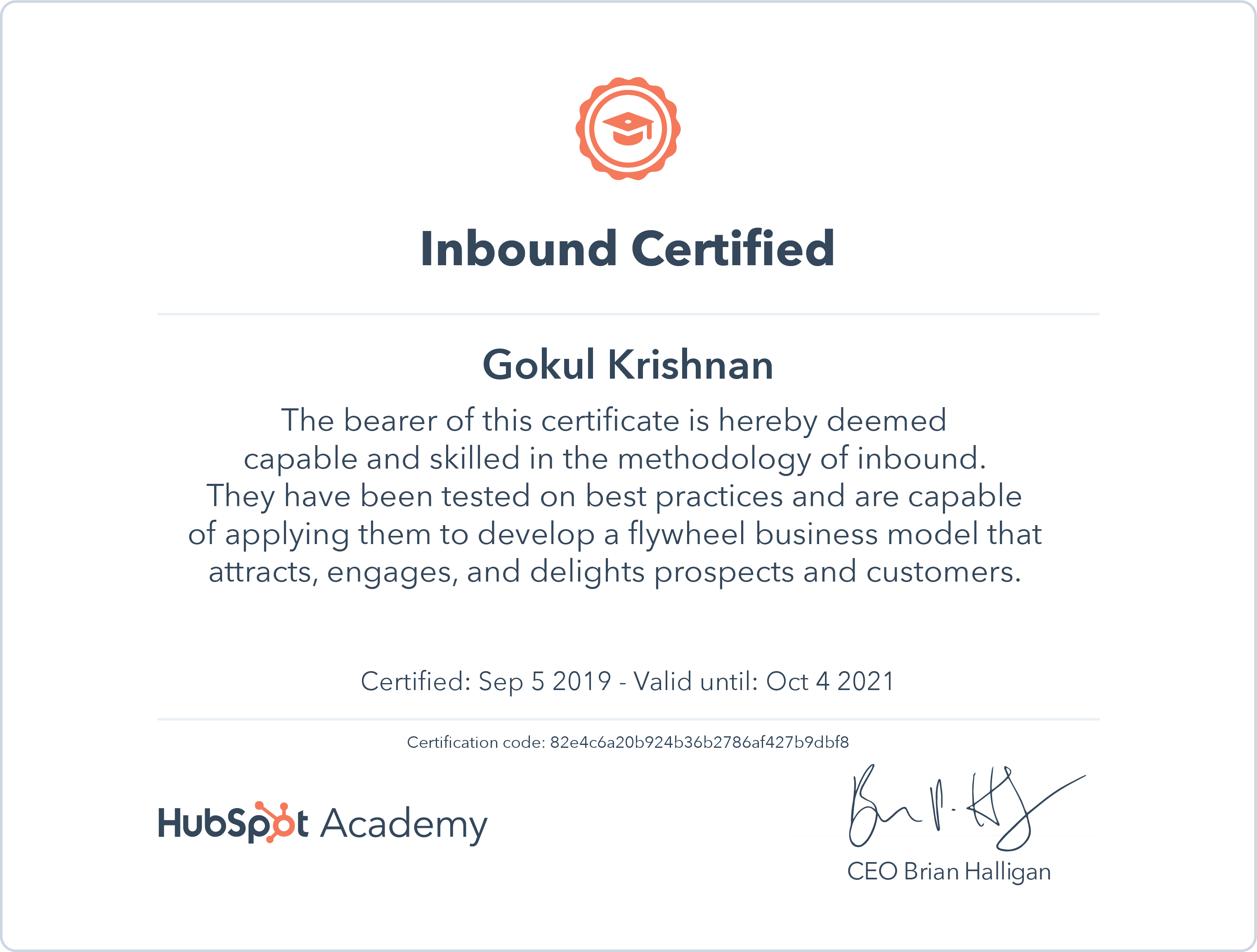 Gokul - Inbound Certification