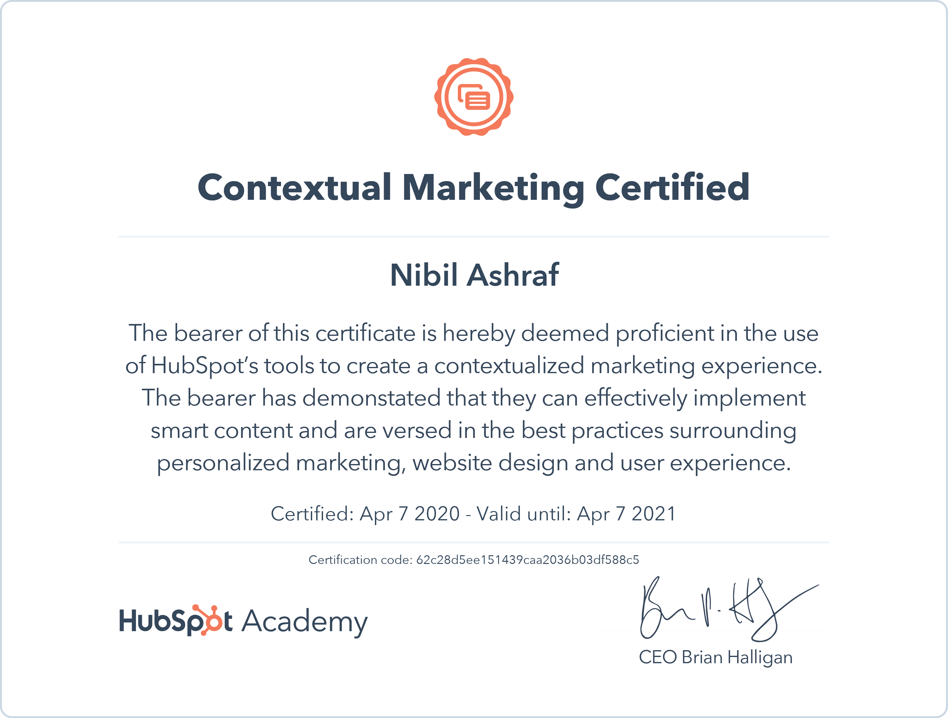 Nibil - Contextual Marketing Certification