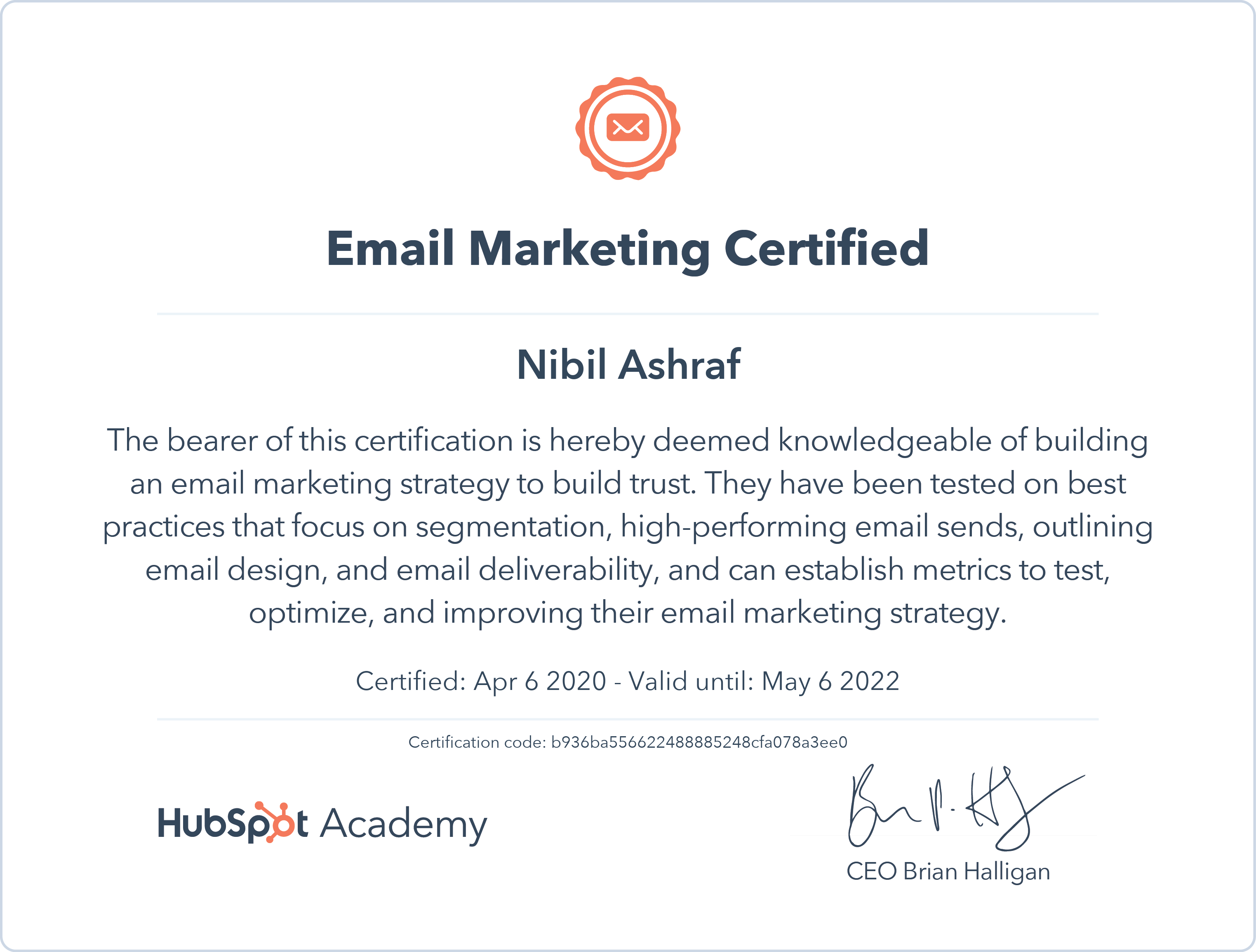 Nibil - Email Marketing Certification