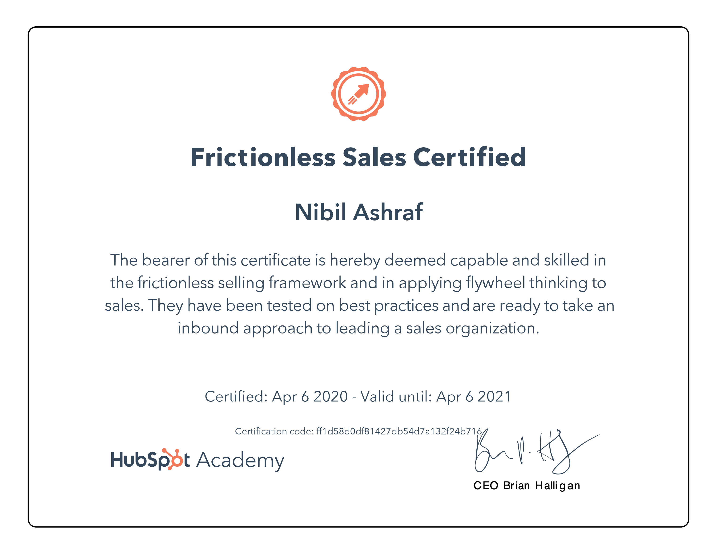 Nibil - Frictionless Sales Certification