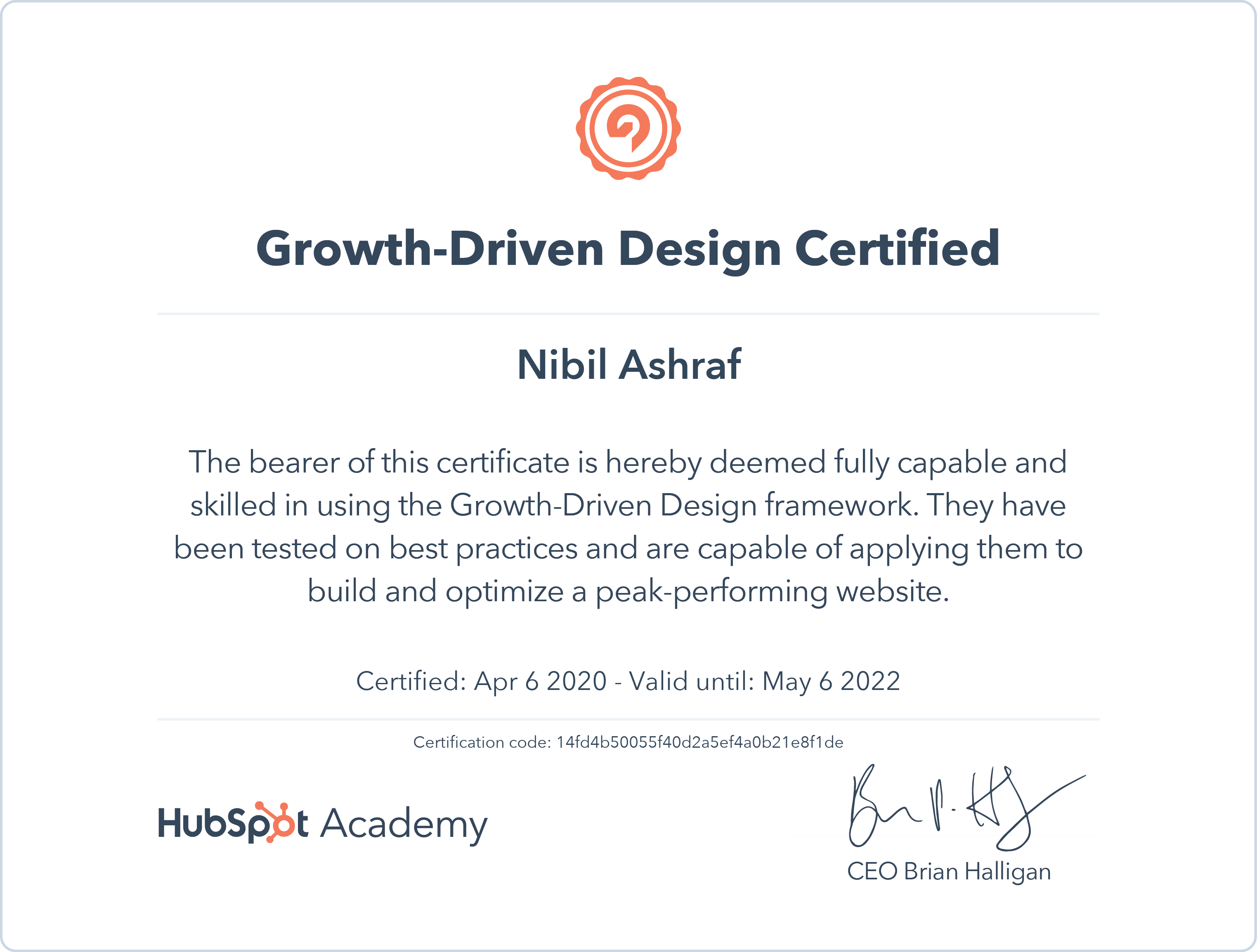 Nibil - Growth Driven Design Certification