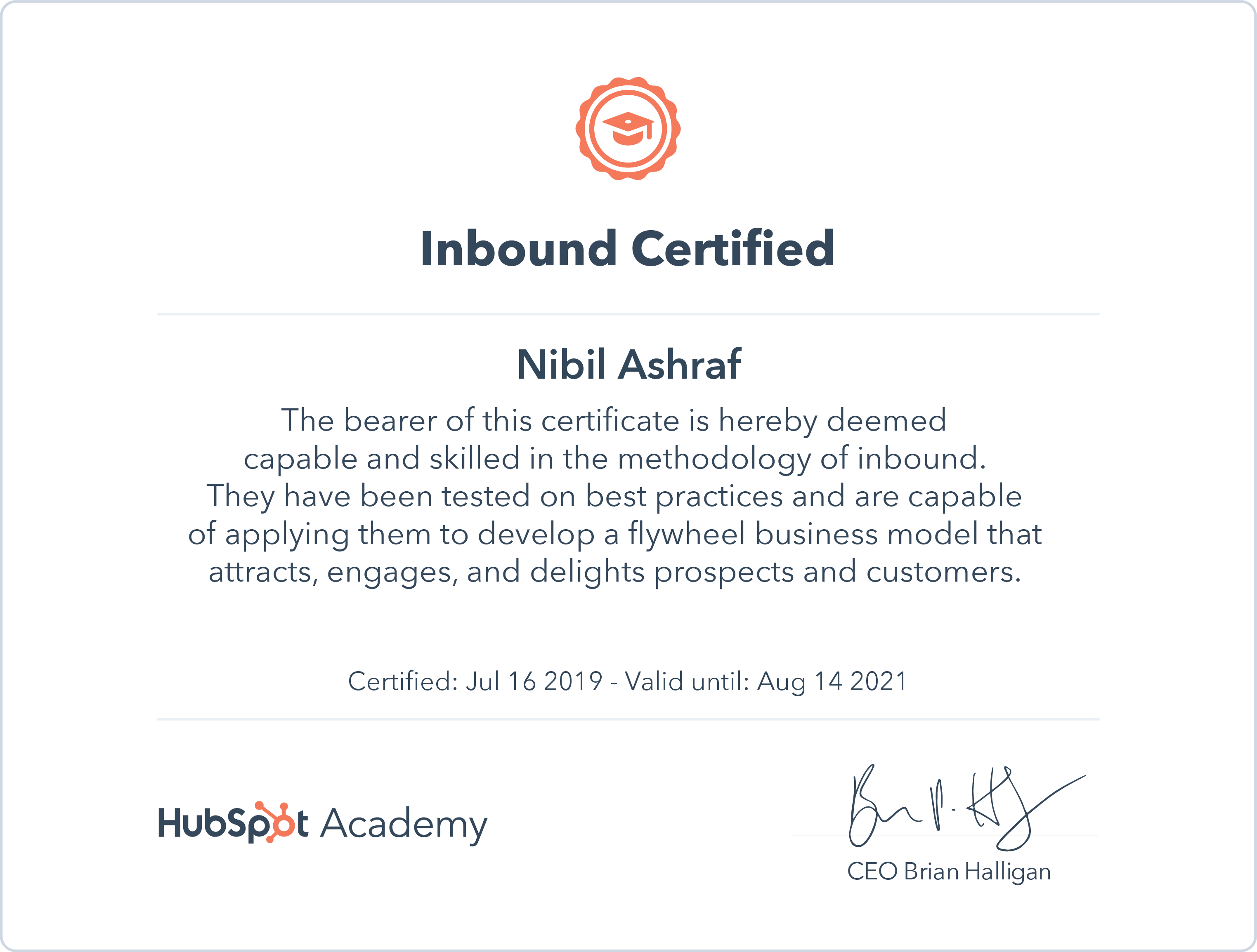 Nibil - Inbound Certification